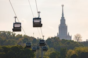 Moscow Cable Car on Sparrow Hills