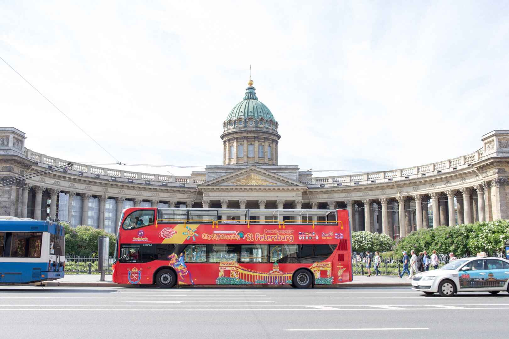 : Sightseeing tour across St. Petersburg by bus | Buses City Sightseeing | Map St. Petersburg City Pass, Фото 1